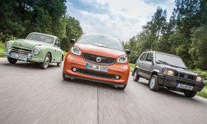 Smart Fortwo Gutbrod Superior Fiat Panda 4x4 Kleinwagen Vergleich