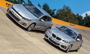 VW Scirocco 2.0 TSI BMT 2014 BMW 228i Coupe Vergleich Kompaktklasse Bilder technische Daten