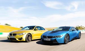 BMW i8 BMW M4 2014 Sportwagen Vergleichstest