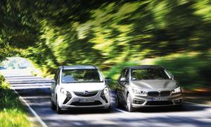 BMW 2er Active Touer 225i Opel Zafira Tourer 1.6 ecotec Turbo Kompaktvans Vergleichstest
