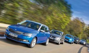 Skoda Fabia Ford Fiesta Peugeot 208 Renault Clio VW Polo 2014 Kleinwagen Vergleichstest