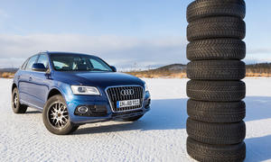 Winterreifen-Test SUV 235/65 R 17 M+S Audi Q5 Schnee Ivalo Vergleich