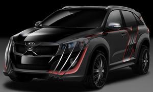 Kia Sorento X-Car Australian Open 2015 X-Men Superheld Design Einzelstück