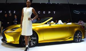 Lexus LF-C2 Concept Cabrio Studie L.A. Auto show 2014 Premiere live Bilder