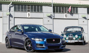 Jaguar XE 2015 Jaguar MK II 1959 Vergleich Design Limousinen