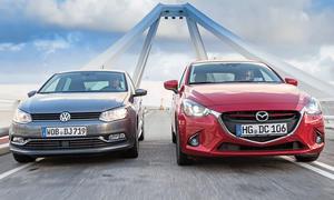 Mazda 2 VW Polo Vergleich Bilder technische Daten Kleinwagen