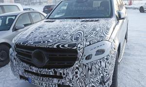 Mercedes GLS 2015 GL Facelift Bilder Erlkoenig neuheit SUV 0002