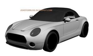 Mini Roadster Superleggera Spider Elektroauto Leak Patentzeichnungen