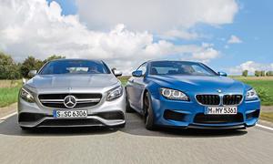BMW M6 Competition Mercedes S 63 AMG Luxus Sportcoupes Benziner Biturbo Achtzylinder Vergleichstest