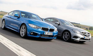 BMW 428i Mercedes E 250 Mittelklasse Coupes Benziner Turbo Vierzylinder Zweitürer Markenvergleich Test Bilder