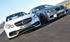 """BMW M5 """"30 Jahre M5"""" Mercedes E 63 AMG S 4Matic Sport Limousinen Oberklasse Markenvergleich Test"""