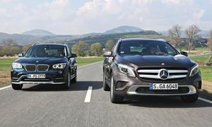 BMW X1 xDrive18d Mercedes GLA 200 CDI 4Matic Kompakt-SUV Diesel Allradantrieb Markenvergleich Test Bilder