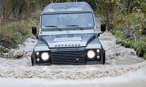 Land Rover Defender TD4 110 SW Geländewagen Diesel Fünftürer Test Bilder