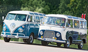 VW Bus T1 Samba Bulli Ford Transit Panorama Vergleich Bilder technische Daten