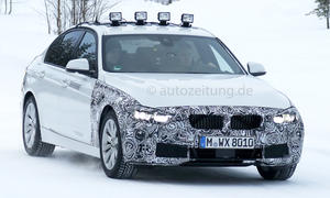 BMW 3er Facelift 2015 Erlkönig Plug-in-Hybrid 330e