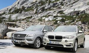 BMW X5 xDrive25d Mercedes ML 250 BlueTEC 4Matic Diesel Markenvergleich Test SUV Oberklasse Bilder