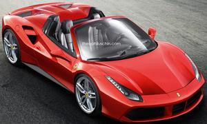 Ferrari 488 GTB Spider Cabrio Rendering Chin Bilder Photoshop 0002