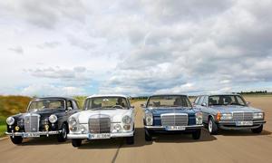 Mercedes 180 D W120 200 D W110 240 D W114 300 TD W123 Vergleich Diesel Bilder technische Daten