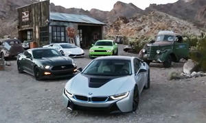 Video: Huracan und i8 gegen Mustang GT und SRT Hellcat
