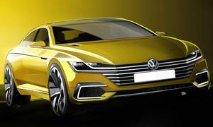 vw sport coupe concept gte 2015 genf autosalon passat cc mittelklasse studie