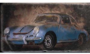 Oldtimer Bilder Kunstgemälde Custom-Cars Classic Cars Rennwagen Muscle-Cars