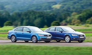 Audi A3 VW Jetta Limousinen Kompaktklasse Vergleichstest Benziner Turbo Bilder