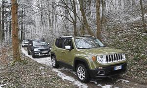 Jeep Renegade Mini Countryman Skoda Yeti Kompakt-SUV Vergleichstest Bilder