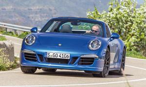 Porsche 911 Targa 4 GTS Sportwagen Boxermotor Allrad Test