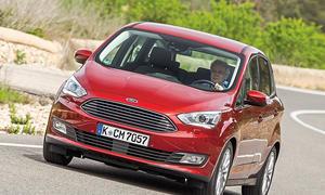 Ford C-MAX 2015 Facelift Kompakt-Van Benziner Test Fahrbericht