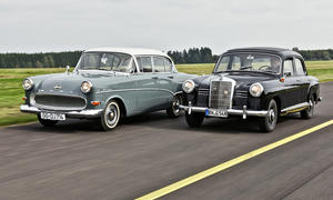 Mercedes 180 Ponton W120 Opel Olympia Rekord Vergleich