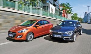 BMW 118d Hyundai i30 Diesel Kompaktklasse Vergleichstest
