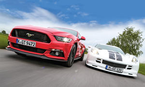Ford Mustang GT Chevrolet Corvette C7 Stingray US-Sportwagen Vergleich