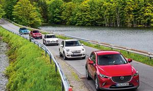 Mazda CX-3 Fiat 500X Suzuki Vitara Citroen C4 Cactus Nissan Juke Mini-SUV Vergleichstest