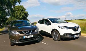 Renault Kadjar Nissan Qashai SUV Crossover Vergleichstest