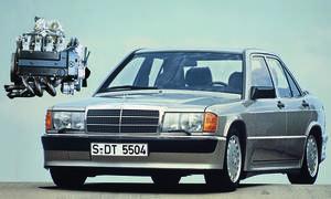 Motoren Mercedes M102 E 23/2 190 E 2.3-16 16-Ventiler Rekord-Motor