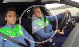 VfL Wolfsburg beim VW-Fahrertraining