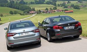 bmw 518d skoda superb 2.0 tdi 2015 limousine vergleichstest diesel obere mittelklasse
