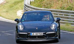 Porsche 911 Turbo Facelift 2015 IAA Erlkönig