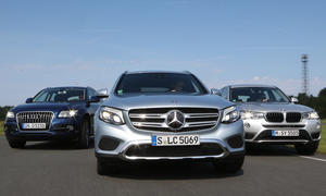 Mercedes GLC Audi Q5 BMW X3 SUV Vergleichstest