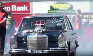 mercedes sel 300 rote sau v8 tuning motortuning dragster dragrace