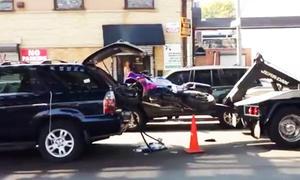 abschleppwagen suv motorrad video