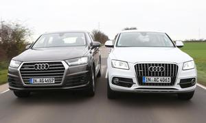 Audi Q7 gegen Audi Q5