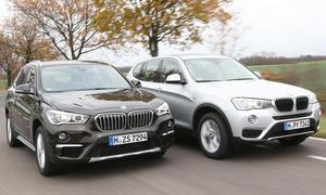 BMW X1 gegen BMW X3 im Vergleich