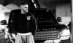 Rapper Fler am Range Rover