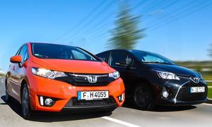 Honda Jazz und Toyota Yaris im Vergleichstest
