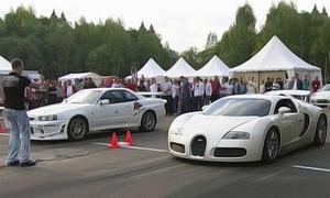 Nissan GT-R gegen Bugatti Veyron: Dragrace