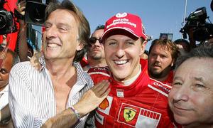 Ex-Ferrari-Chef Luca di Montezemolo und Michael Schumacher