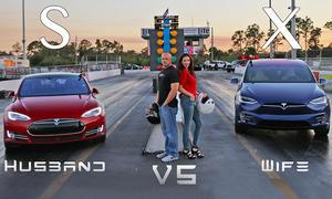 Tesla Model S/Model X: Mann gegen Frau