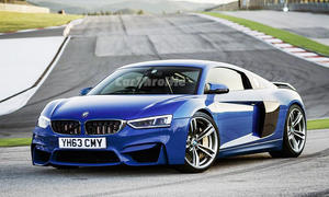 Audi R8 trifft BMW M4: Illustration