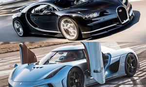 Bugatti Chiron vs. Koenigsegg Regera